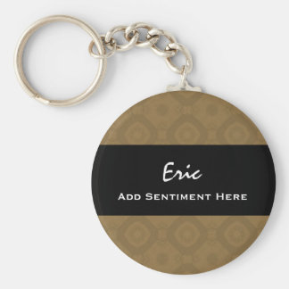 FATHER OF THE BRIDE V29 DARK BRONZE BASIC ROUND BUTTON KEY RING