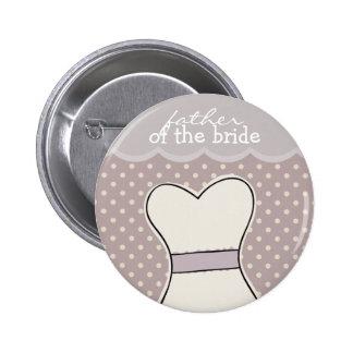 Father of the Bride -- Wedding dress // PURPLE 6 Cm Round Badge