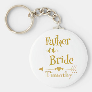 Father of the Bride Wedding Keepsake Key Ring