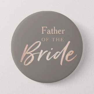 Father of the Bride Wedding Rehearsal 7.5 Cm Round Badge