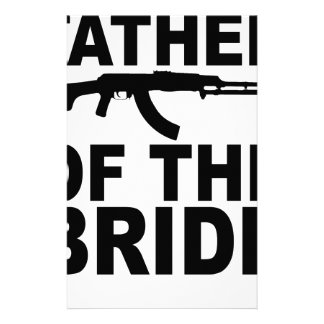 Father of the Bride with Gun T-Shirts.png Stationery Design