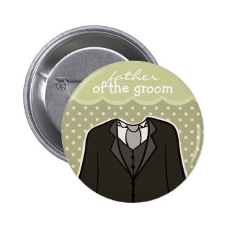Father of the Groom // GREEN 6 Cm Round Badge
