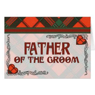 Father of the Groom Invitation Scott Tartan