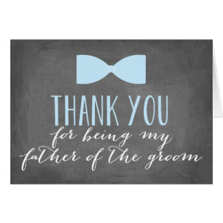 Father of the Groom Thank You | Groomsman Note Card
