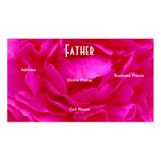 Father Pink Rose Profile Card Business Card Templates