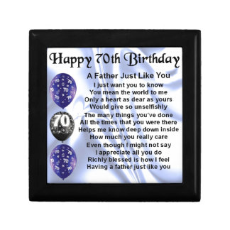 Father Poem - 70th Birthday Gift Box