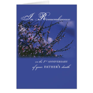 Father, Remembrance 1st Anniversary Card