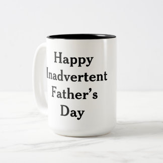 Father's Day funny Two-Tone Coffee Mug