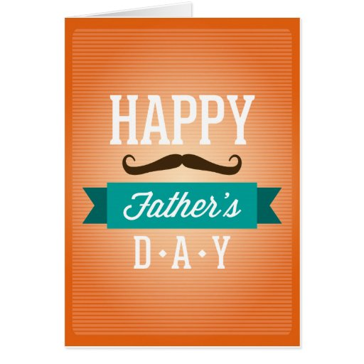 """Father""""s Day Greeting Funny Mustaches Cards"""