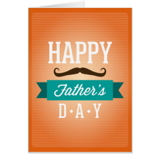 "Father""s Day Greeting Funny Mustaches Greeting Card"