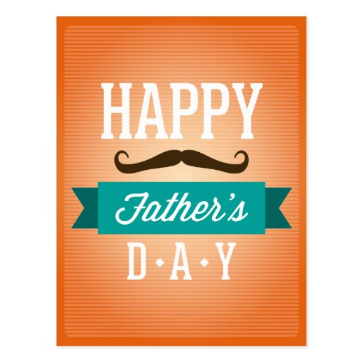 """Father""""s Day Greeting Funny Mustaches Postcard"""