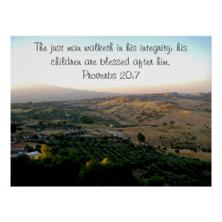 Father s Day Italy Scripture Print