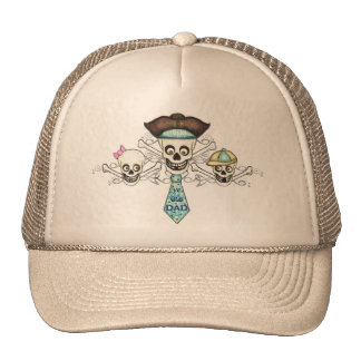 Father s Day Pirate Trucker Hats