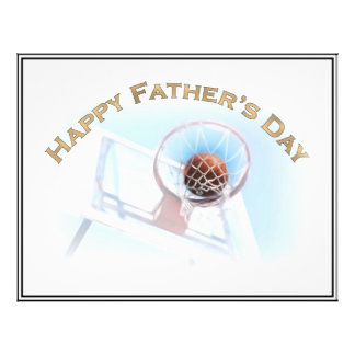 Father s Day Sports Basketball Flyer Design