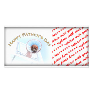 Father s Day Sports Basketball Photo Card Template