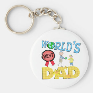 Father s Day World s Best Dad Keychain