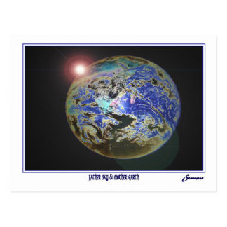Father Sky kissing Mother Earth Postcard