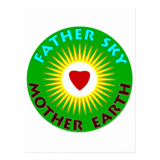 Father Sky Mother Earth Postcard