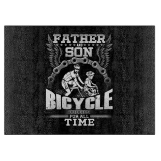 Father Son Bicycle Cutting Board