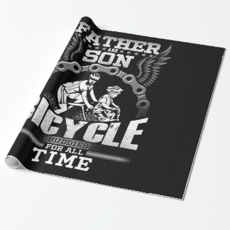 Father Son Bicycle Wrapping Paper