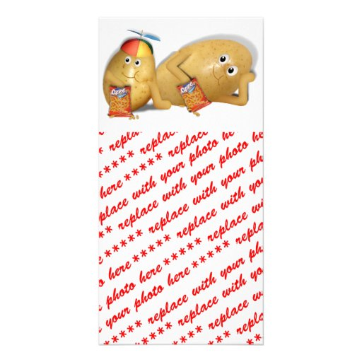 Father & Son Spuds Picture Card