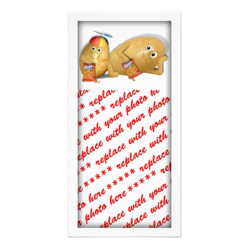 Father & Son Spuds Personalized Photo Card