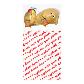 Father Son Spuds Picture Card