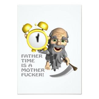Father Time 13 Cm X 18 Cm Invitation Card