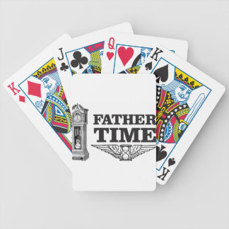 father time clock bicycle playing cards