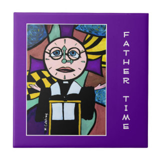 Father Time - Purple  - Time Pieces Ceramic Tile