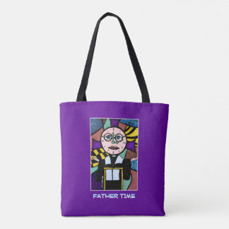 Father Time - Purple  - Time Pieces Tote Bag