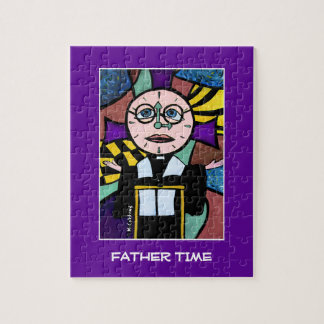 Father Time - Time Pieces Bright Colors Jigsaw Puzzle