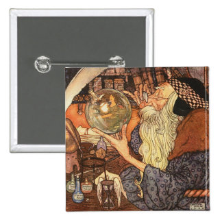 Father Time Vintage New Year 15 Cm Square Badge