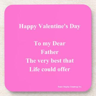 father Valentine's day Beverage Coasters
