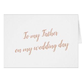 Father Wedding Card