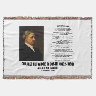 Father William Wonderland Charles Lutwidge Dodgson Throw Blanket
