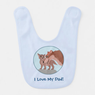 Father Wolf and Pup Baby Bib