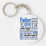 Father Words Day Dad Daddy Papa Pawpaw Basic Round Button Key Ring