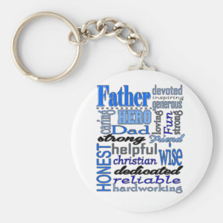 Father Words Day Dad Daddy Papa Pawpaw Key Ring