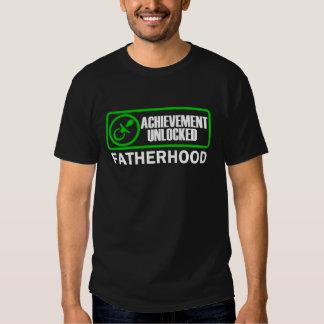 Fatherhood, Achievement Unlocked funny gamer dad T Shirt