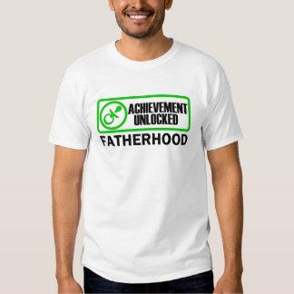 Fatherhood, Achievement Unlocked funny gamer dad T-shirts