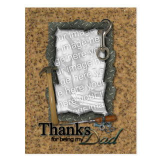 Father's Day ADD YOUR PHOTO Tools Postcard