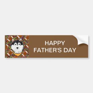 Fathers Day Alaskan Malamute Bumper Sticker