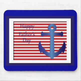 Father's Day Anchor Nautical Mouse Pad
