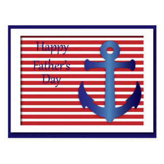 Father's Day Anchor Nautical Postcard