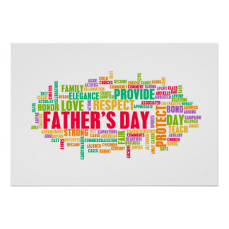 Father's Day As a Special Day with Words Poster