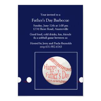 Father's Day Baseball Invitation