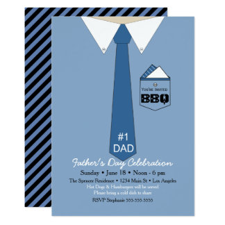 Father's Day BBQ Shirt Tie Invitation