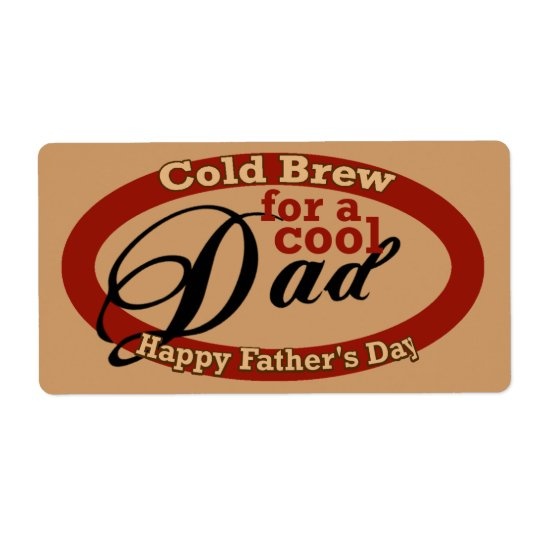 Father's Day Beverage or Beer Bottle Label