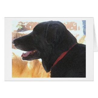 Father's Day - Black Labrador Dog Lover Card